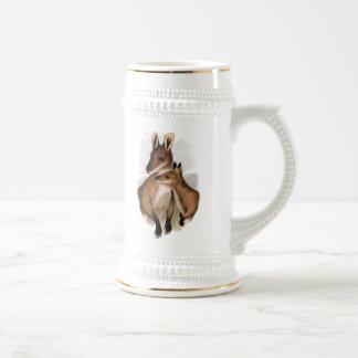 Wallaby Mother and Baby painting Mug