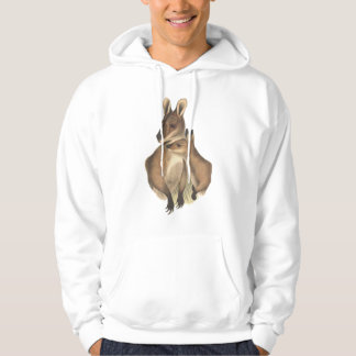 Wallaby Mum and Baby (painting) Hoodie