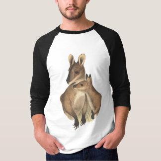 Wallaby Mum and Baby (painting) T-Shirt