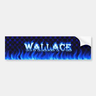 Wallace blue fire and flames bumper sticker design