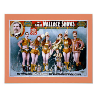 Wallace Circus Show Vintage Poster