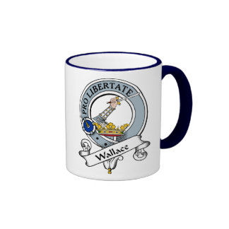 Wallace Clan Badge Ringer Coffee Mug