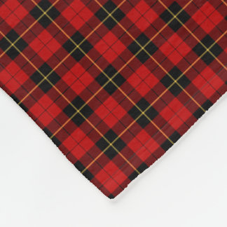 Wallace Clan Classic Red and Black Tartan Fleece Blanket