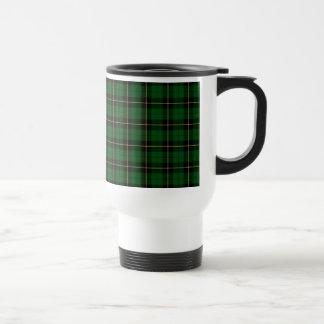 Wallace Clan Green and Black Hunting Tartan Travel Mug