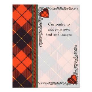 Wallace clan Plaid Scottish tartan 11.5 Cm X 14 Cm Flyer