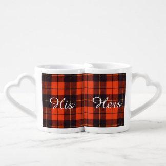Wallace clan Plaid Scottish tartan Coffee Mug Set