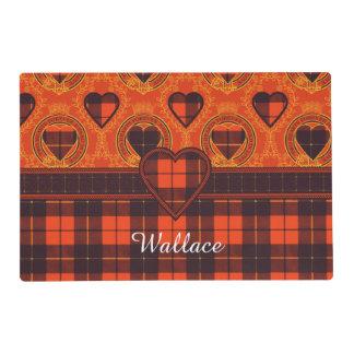 Wallace clan Plaid Scottish tartan Laminated Place Mat