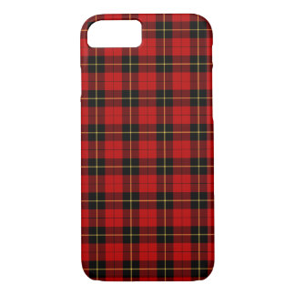 Wallace Clan Red and Black Tartan iPhone 8/7 Case