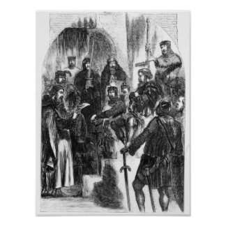 Wallace Crowned with Laurel in Westminster Hall Poster