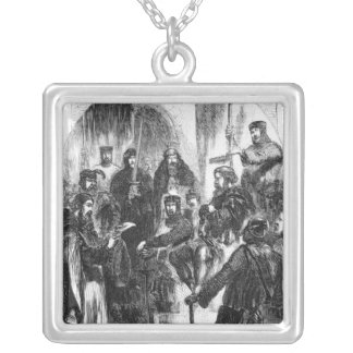 Wallace Crowned with Laurel in Westminster Hall Silver Plated Necklace