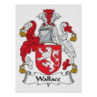 Wallace Family Crest Poster