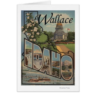 Wallace, Idaho - Large Letter Scenes Card
