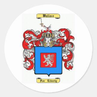 Wallace (irish) round sticker