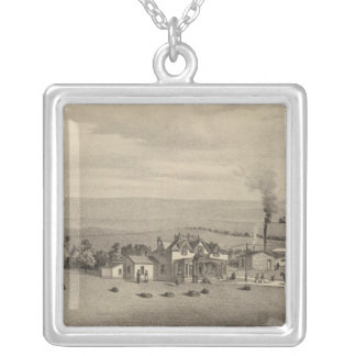 Wallace, Kansas Silver Plated Necklace