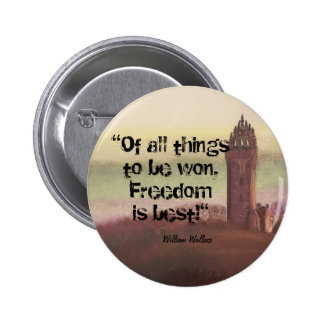 Wallace Monument, Stirling, Scotland 6 Cm Round Badge