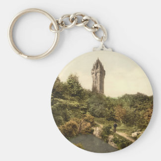 Wallace Monument, Stirling, Scotland Basic Round Button Key Ring