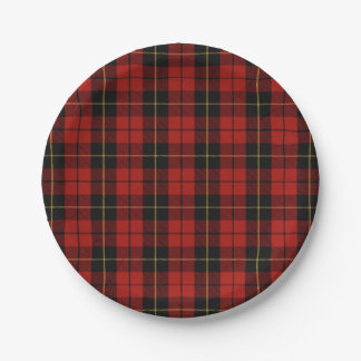Wallace Red Plaid Paper Plates
