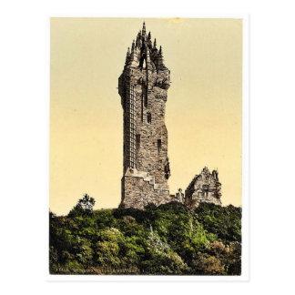 Wallace Statue I, Stirling, Scotland classic Photo Postcard