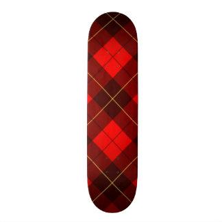 Wallace tartan background 21.3 cm mini skateboard deck