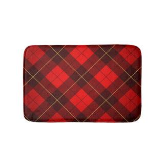 Wallace tartan background bath mat