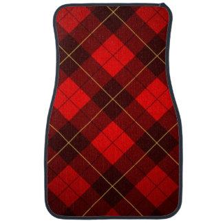 Wallace tartan background car mat