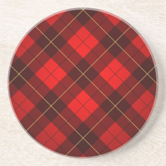 Wallace tartan background coaster