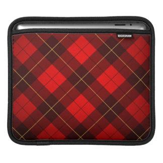 Wallace tartan background iPad sleeve