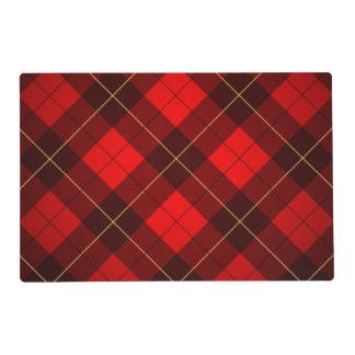 Wallace tartan background laminated place mat