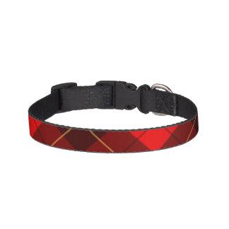 Wallace tartan background pet collar