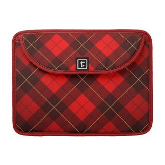 Wallace tartan background sleeve for MacBooks