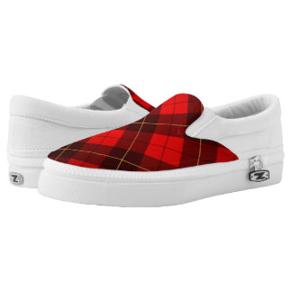 Wallace tartan background Slip-On shoes