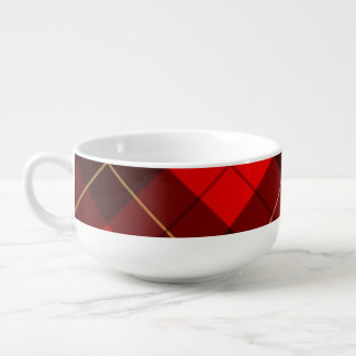 Wallace tartan background soup mug