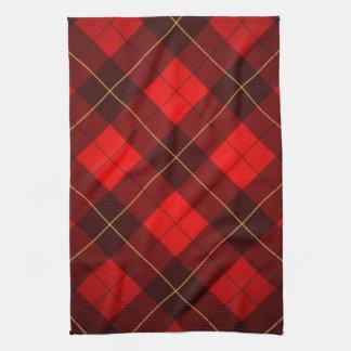 Wallace tartan background tea towel