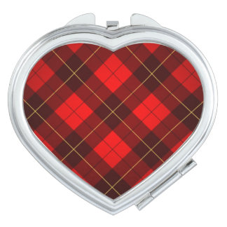 Wallace tartan background vanity mirror