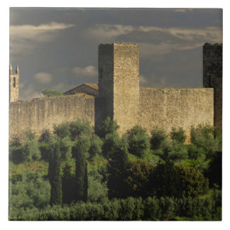 Walled city of Monteriggioni, in the province of Tile