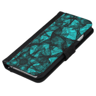 Wallet Case iPhone 6 Fractal Art