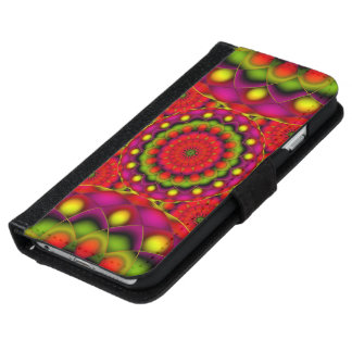 Wallet Case iPhone 6 Mandala Psychedelic Visions
