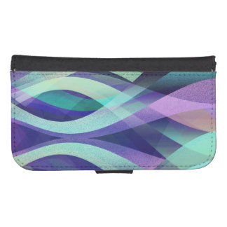 Wallet Case Samsung S4 Abstract Background
