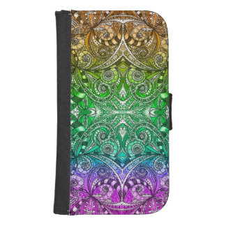 Wallet Case Samsung S4 Drawing Floral