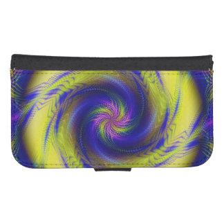 Wallet Case Samsung S4 Fractal Spiral Vortex Galaxy S4 Wallet