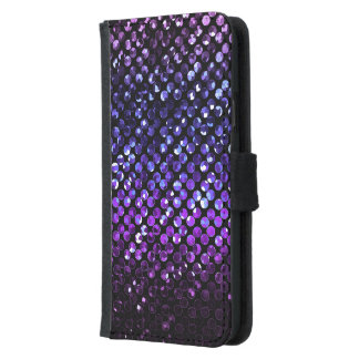 Wallet Case Samsung S5 Purple Crystal Bling Strass