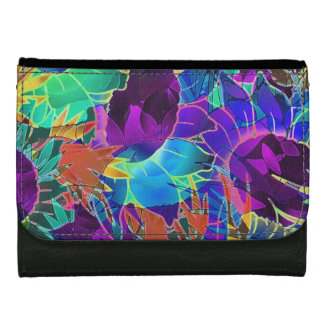 Wallet Floral Abstract Artwork