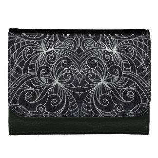 Wallet Floral Doodle Drawing