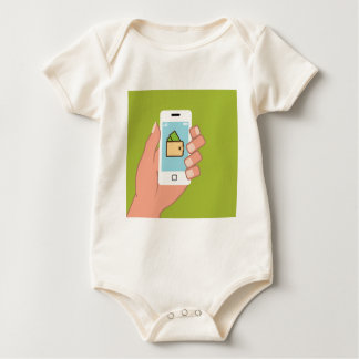 Wallet Phone in Hand Baby Bodysuits
