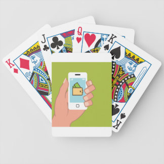 Wallet Phone in Hand Bicycle Poker Cards