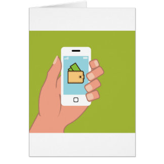 Wallet Phone in Hand Greeting Card