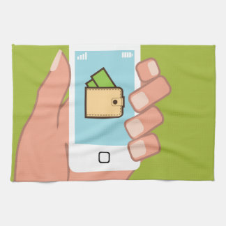 Wallet Phone in Hand Kitchen Towel