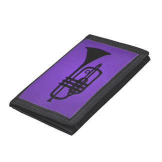 Wallet with illustration of a trumpet silhouette
