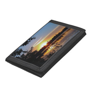 Wallet with Photo of Sunset with Trees by Lake