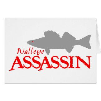 WALLEYE ASSASSIN GREETING CARD